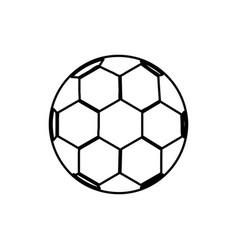monochrome contour of soccer ball vector image