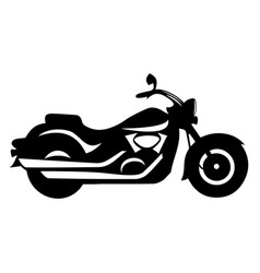 Motorcycle cruiser stylish monochrome retro bike vector
