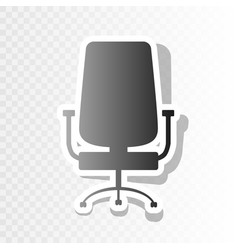 Office chair sign new year blackish icon vector