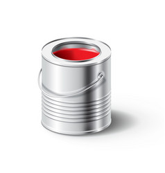 paint can with red color vector image vector image