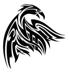 phoenix tattoo vintage engraving vector image vector image