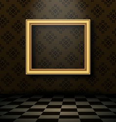 Picture frame in baroque interior style vector image