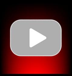 Play button style vector