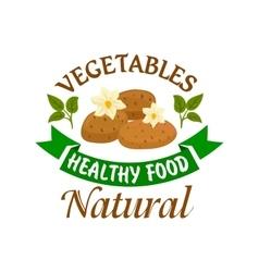 Potato vegetable healthy natural food emblem vector
