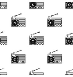 Radio icon in black style isolated on white vector