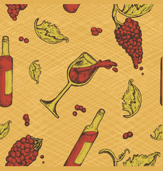 seamless pattern of an alcoholic beverage and vector image