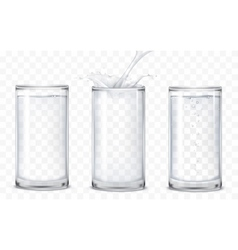 Set of icons glasses with a drink vector image