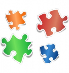 shiny jig saw puzzle pieces vector image vector image