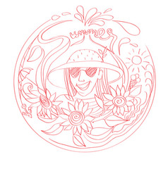summer stamp vector image vector image