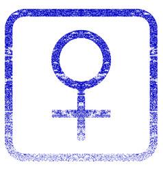 Venus female symbol framed textured icon vector