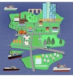 02 City landscape map vector image