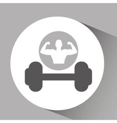 silhouette man bodybuilder dummbell vector image