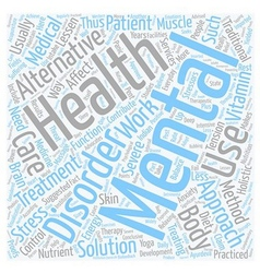 Mental health care text background wordcloud vector