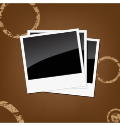 Polaroid background vector