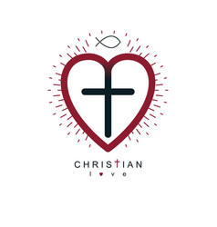 God christian love conceptual logo design vector