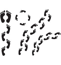 Human steps vector