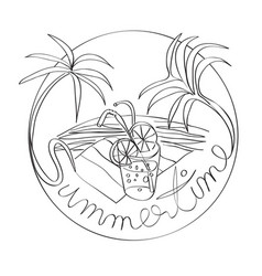 Summertime stamp vector