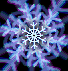 Christmas snowflake sign with aberrations vector