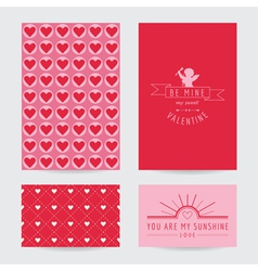 Valentines day card set vector
