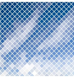 Blue diagonal mosaic in sky effect vector