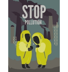 Couple in dirty environment vector