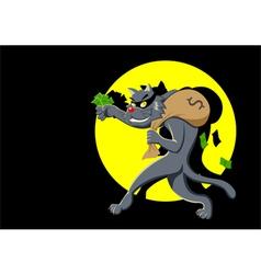 Cat burglar vector