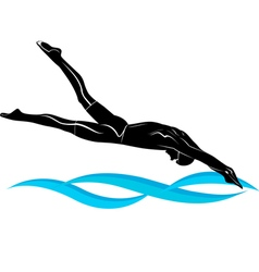 swimmer athlete vector image