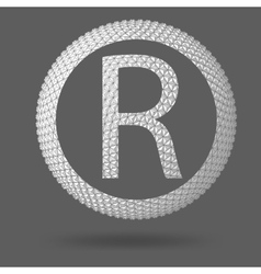 The letter r polygonal letter abstract creative vector