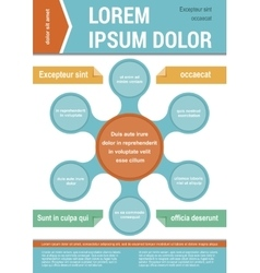 Document layout template infographic elements vector