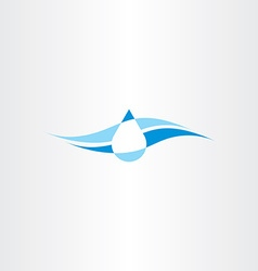 Spring fresh mineral water icon logo vector