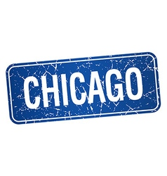 Chicago blue stamp isolated on white background vector