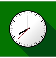 Clock icon  flat design eps10 vector