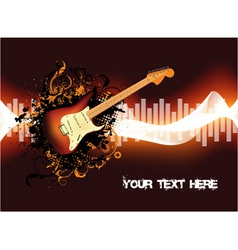 abstract concert poster vector image vector image