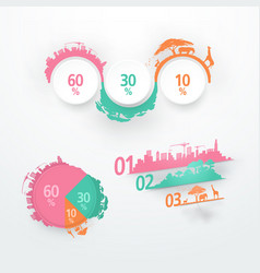 Abstract elements for infographic template for vector