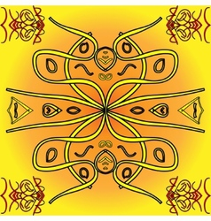 Abstract yellow indigenous background vector