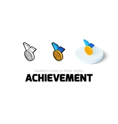 Achievement icon in different style vector image vector image