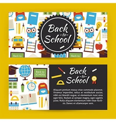 Back to School and Education Modern Flat Style vector image