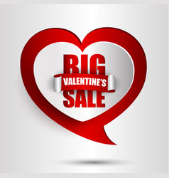 Big valentines day sale background vector