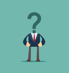 Businessman with question mark head vector