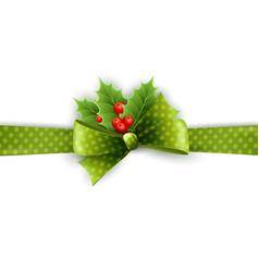 Christmas ribbon decoration vector