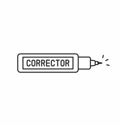 corrector pen icon vector image