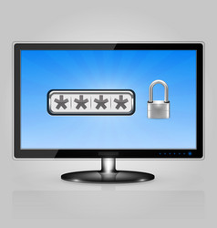 display with password protection vector image
