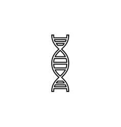 Dna line icon element of medical and genetic sign vector