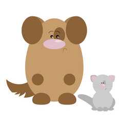 dog and cat sad vector image vector image