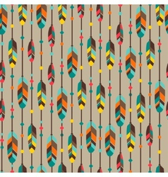 Ethnic seamless pattern in native style with vector image