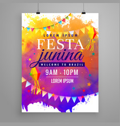 Festa junina party celebration invitation flyer vector