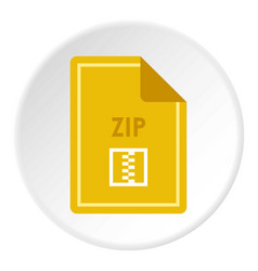 File zip icon circle vector