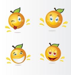 funny oranges vector image vector image