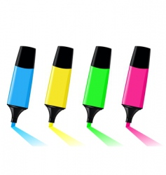 highlighters vector image vector image
