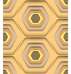 Honeycomb Honey Colors Seamless Pattern vector image vector image